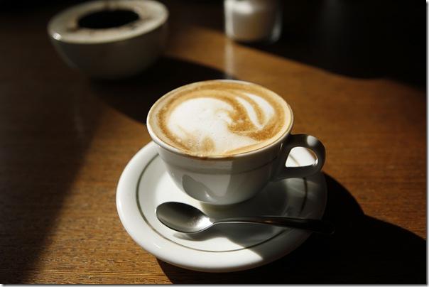 ブルーレイコーヒー自慢のカプチーノ